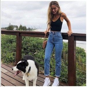 Topshop blue mom jeans